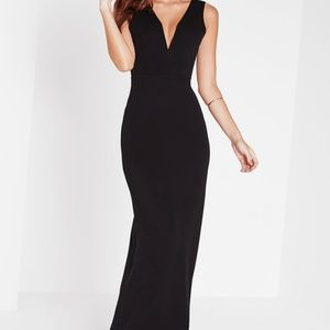 Missguided Classic Black evening dress, Size 2